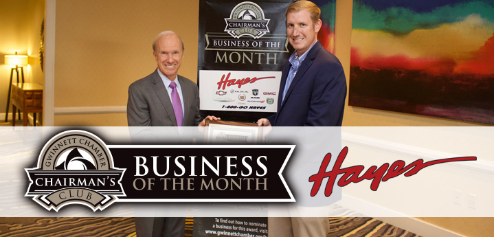 Hayes Chrysler Dodge Jeep Named May 2018 Chairman's Club Business of the Month