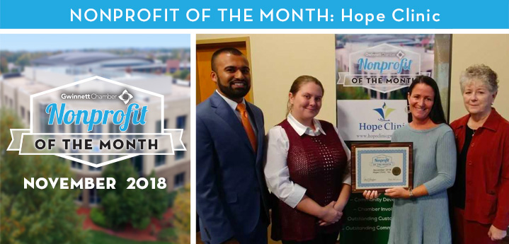 Hope Clinic Honored as November 2018 Nonprofit of the Month