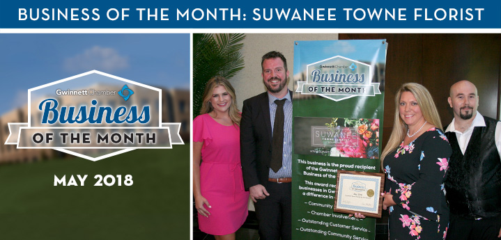 Suwanee Towne Florist Named May 2018 Business of the Month