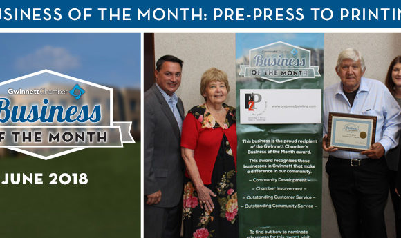 Pre-Press to Printing Named June 2018 Business of the Month