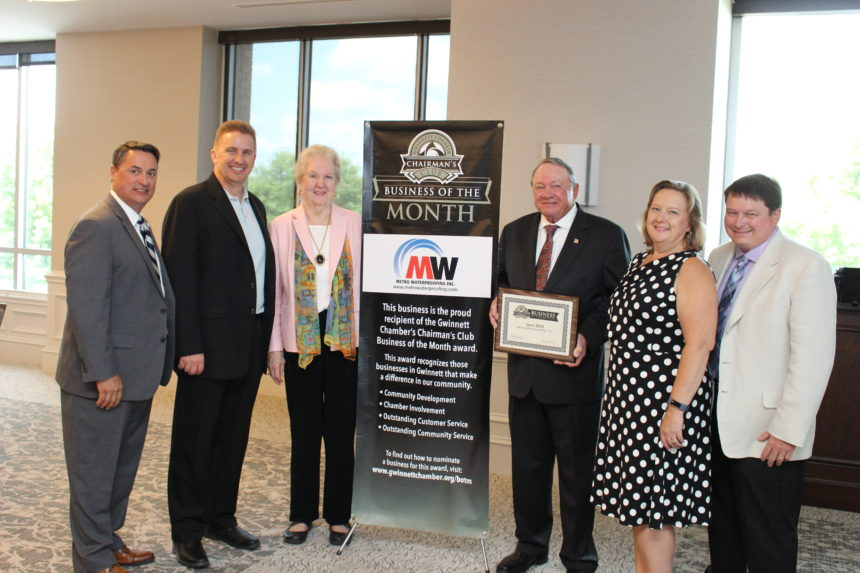 Metro Waterproofing named June Chairman's Club Business of the Month