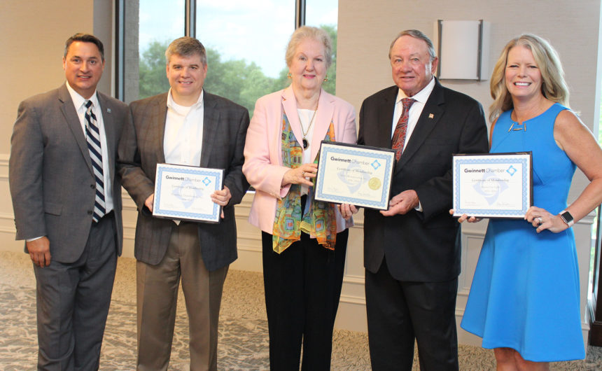 Gwinnett Chamber recognizes longtime members