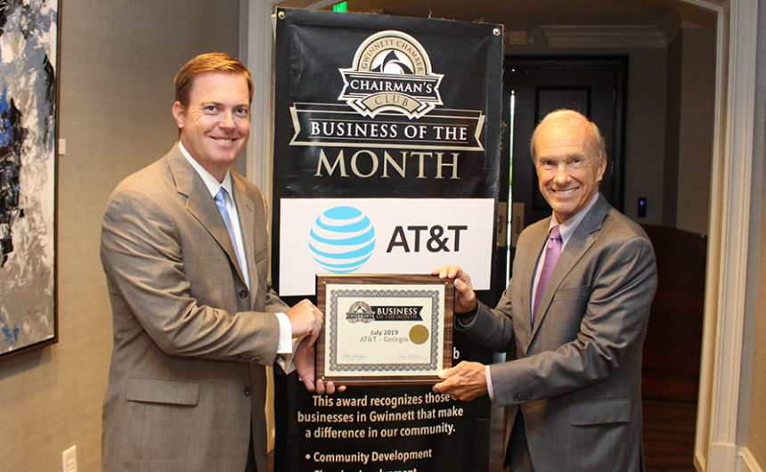 AT&T named July Chairman's Club Business of the Month