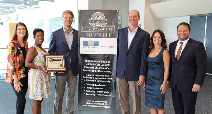 Level Seven Facilities Services named September Chairman's Club Business of the Month